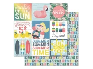 Simple Stories Collection Sunshine And Blue Skies Paper 12 in. x 12 in. Elements 4 in. x 4 in. (25 pieces)