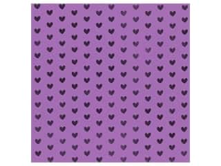 Bazzill Paper 12 in. x 12 in. Heart Foil Gummy Bear Purple (12 pieces)