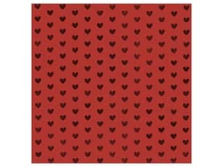 Bazzill Paper 12 in. x 12 in. Heart Foil Red Hots (12 pieces)