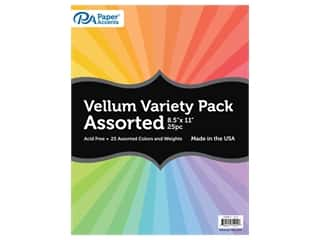 scrapbooking & paper crafts: Paper Accents Vellum Variety Pack 8 1/2 x 11 in. Assorted 25 pc.
