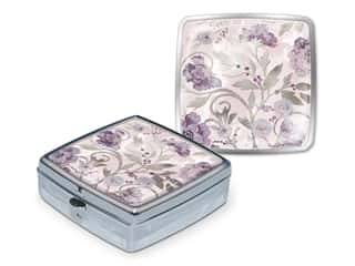 Punch Studio Pill Box Silver Vines