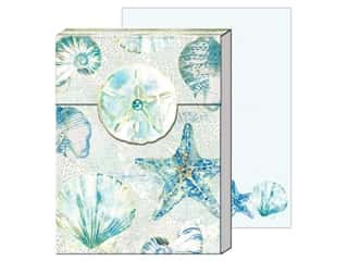 gifts & giftwrap: Punch Studio Note Pad Pocket Watercolor Shells