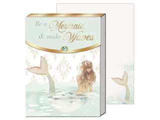 gifts & giftwrap: Punch Studio Note Pad Pocket Mermaid Waves