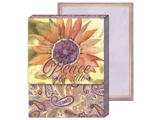 gifts & giftwrap: Punch Studio Note Pad Pocket Peace Sunflower