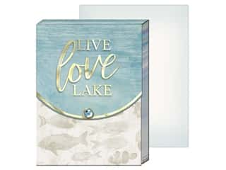 gifts & giftwrap: Punch Studio Note Pad Pocket Live Love Lake