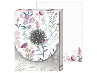 gifts & giftwrap: Punch Studio Note Pad Mini Brooch Wildflowers