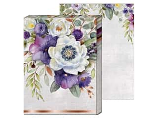 gifts & giftwrap: Punch Studio Note Pad Mini Brooch Purple Bouquet