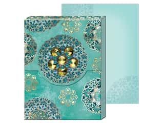Gifts & Giftwrap: Punch Studio Note Pad Mini Brooch Turquoise Medallions