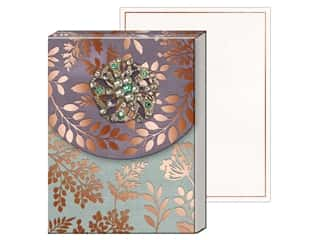 Gifts & Giftwrap: Punch Studio Note Pad Mini Brooch Copper Leaves