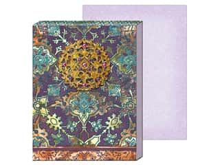gifts & giftwrap: Punch Studio Note Pad Mini Brooch Purple Turquoise Tile