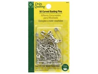 Sewing pins: Dritz Safety Pins Curved Basting Size 1 Steel 50 pc