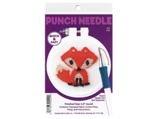 yarn & needlework: Design Works Kit Punch Needle 3.5 in. Fox
