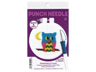 yarn & needlework: Design Works Kit Punch Needle 3.5 in. Owl