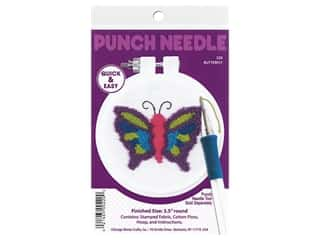 projects & kits: Design Works Kit Punch Needle 3.5 in. Butterfly