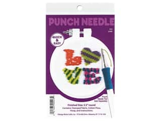Design Works Kit Punch Needle 3.5 in. Love