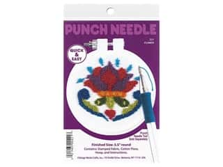 "Design Works Kit Punch Needle 3.5"" Flower"