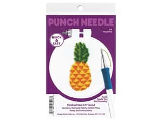 Design Works Kit Punch Needle 3.5 in. Pineapple