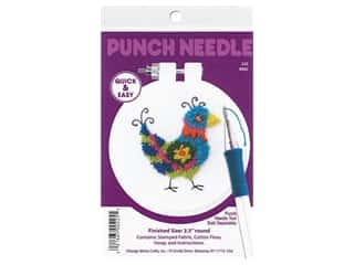 yarn & needlework: Design Works Kit Punch Needle 3.5 in. Bird