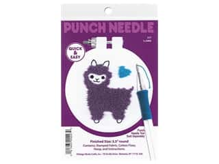 yarn & needlework: Design Works Kit Punch Needle 3.5 in. Llama