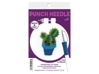 "Design Works Kit Punch Needle 3.5"" Cactus"