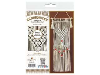 craft & hobbies: Design Works Kit Zenbroidery Macrame Have A Heart