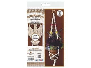 craft & hobbies: Design Works Kit Zenbroidery Macrame Plant Hangers