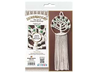 craft & hobbies: Design Works Kit Zenbroidery Macrame Tree Of Life