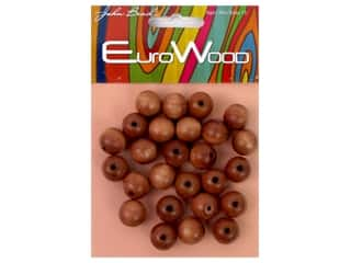 John Bead Wood Bead Round 12 mm Light Brown