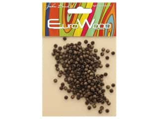 craft & hobbies: John Bead Wood Bead Round 4 mm Dark Brown