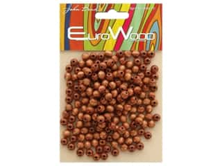 craft & hobbies: John Bead Wood Bead Round 6 mm Light Brown