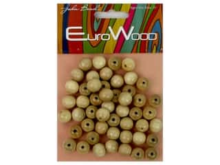 craft & hobbies: John Bead Wood Bead Round 10 mm Natural