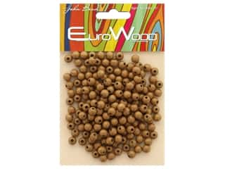 beading & jewelry making supplies: John Bead Wood Bead Round 6 mm Coffee