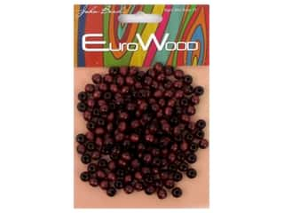 beading & jewelry making supplies: John Bead Wood Bead Round 6 mm Mahogany