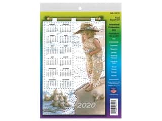 yarn & needlework: Design Works Kit Jeweled Calendar 2020 Beach Girl