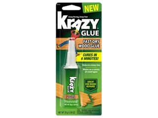 glues, adhesives & tapes: Krazy Glue Fast Dry Wood Glue 1.06 oz.