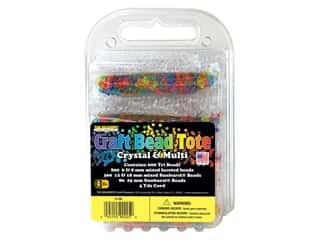 beading & jewelry making supplies: The Beadery Bead Tote Crystal & Multi