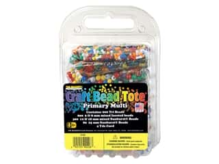 beading & jewelry making supplies: The Beadery Bead Tote Primary Multi