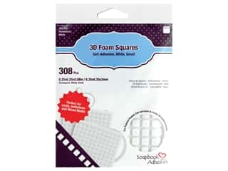 glues, adhesives & tapes: 3L Scrapbook Adhesives 3D Foam Squares 308 pc. 1/4 in. White