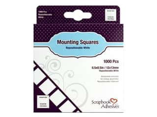 glues, adhesives & tapes: 3L Scrapbook Adhesives Mounting Squares 1000 pc. Repostitionable