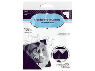 3L Scrapbook Adhesives Photo Corners Paper 108 pc. Black