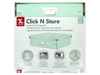 scrapbooking & paper crafts: Xyron Click N Store Storage Box Large Mint Green