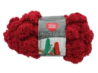 yarn & needlework: Coats & Clark Red Heart Pomp A Doodle Yarn 3.5 oz Red Hot