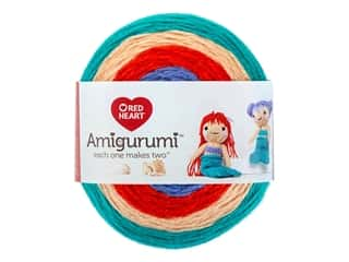 yarn: Red Heart Amigurumi Yarn 239 yd. Mermaid