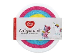yarn: Red Heart Amigurumi Yarn 239 yd. Unicorn