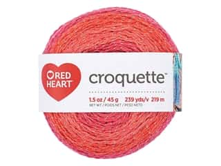 yarn & needlework: Red Heart Croquette Yarn 239 yd. Red Hot