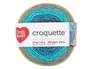 yarn & needlework: Red Heart Croquette Yarn 239 yd. River Rocks