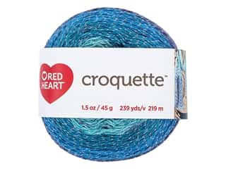 yarn & needlework: Red Heart Croquette Yarn 239 yd. Tidepool