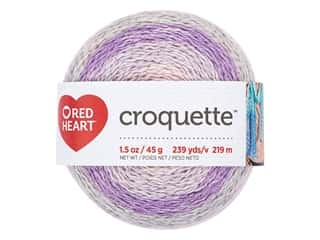 yarn: Red Heart Croquette Yarn 239 yd. Fairy Dust (3 skeins)