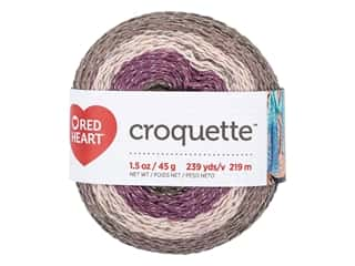 discontinued red heart yarn: Red Heart Croquette Yarn 239 yd. Revenge