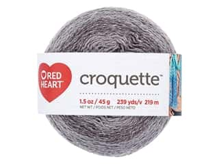 yarn & needlework: Red Heart Croquette Yarn 239 yd. Titanium